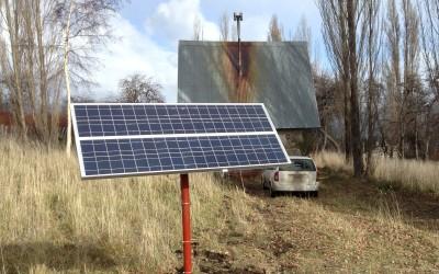 Sistema de respaldo solar-red en Mallín