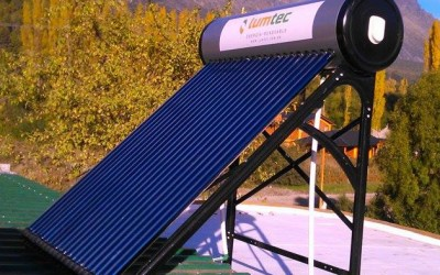 Termotanque solar Earthship