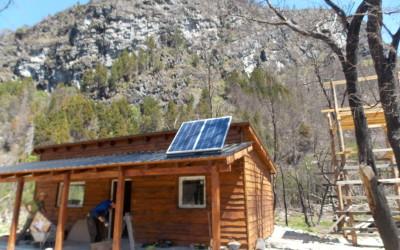 Paneles solares Lago Cholila I