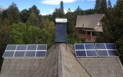 Paneles solares conectado a red eléctrica en Radal I