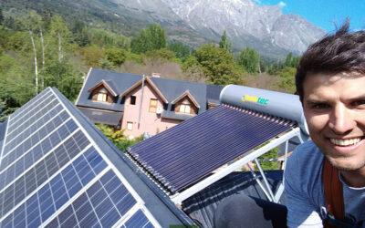 Termotanque solar Heat Pipe 200lts para Cecilia Marconi