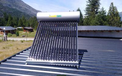 Instalación de Termotanque solar de 200Lts en Lago Puelo