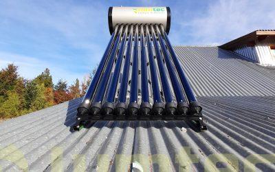Instalación de termotanque solar para uso familiar